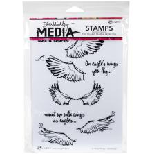 Dina Wakley Media Cling Stamps 6X9 - Scribbly Wings