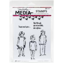Dina Wakley Media Cling Stamps 6X9 - Scribbly Girlies