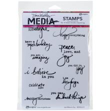 Dina Wakley Media Cling Stamps 6X9 - Just What To Say