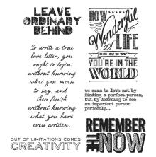 Tim Holtz Cling Stamps 7X8.5 - Random Quotes