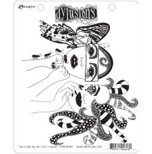 Dylusions Cling Stamp 8.5X7 - Two Heads Are Better Than One