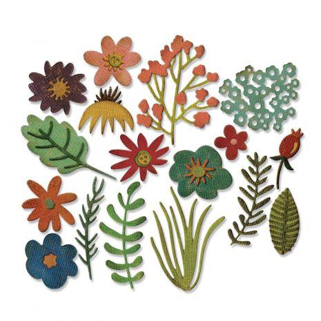 Tim Holtz Sizzix Thinlits Dies 17/Pkg - Funky Floral