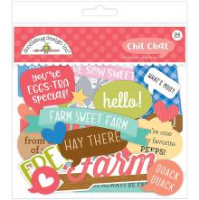 Doodlebug Chit Chat Die-Cuts 94/Pkg - Down On The Farm