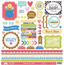 Doodlebug Down On The Farm Cardstock Stickers 12X12 - This & That