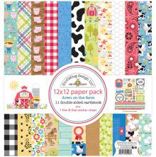 Doodlebug Double-Sided Paper Pack 12X12 12/Pkg - Down On The Farm