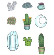 Nicole Tamarin Cling Mount Stamp Set - Succulents