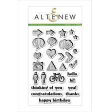 Altenew Clear Stamps 4X6 - Faux Veneer