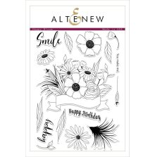 Altenew Clear Stamps 6X8 - Happy Bloom