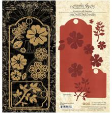 Graphic 45 Staples Dies Large Tag - ATC Tag & Flower
