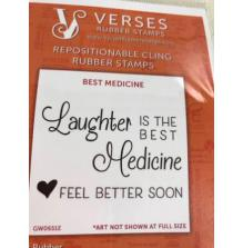 Verses Rubber Stamps - Best Medicine