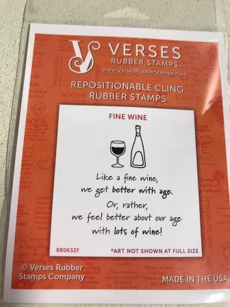 Verses Rubber Stamps - Fine Wine
