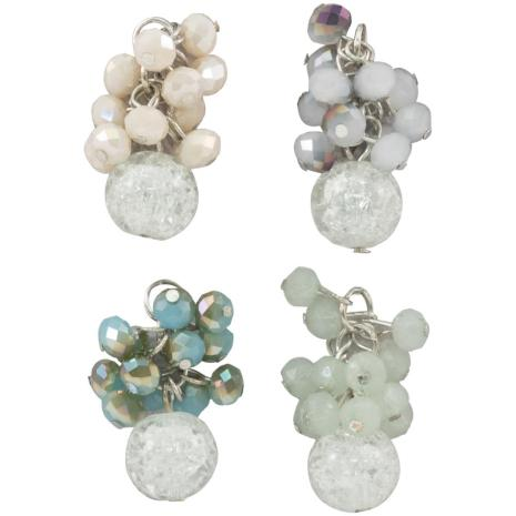 Tim Holtz Assemblage Charms 4/Pkg - Beaded Clusters