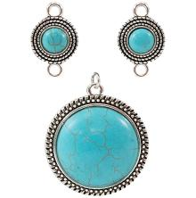 Tim Holtz Assemblage Charms 3/Pkg - Turquoise Medallions
