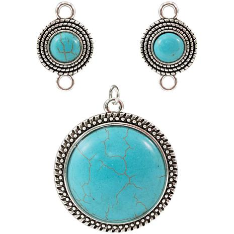 Tim Holtz Assemblage Charms 3/Pkg - Turquoise Medallions