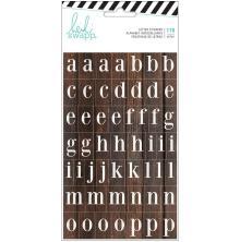 Heidi Swapp Hawthorne Alphabet Stickers 3/Pkg - Woodgrain