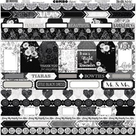 BoBunny Combo Stickers 12X12 - Black Tie Affair