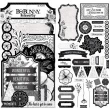 BoBunny Noteworthy Die-Cuts 36/Pkg - Black Tie Affair