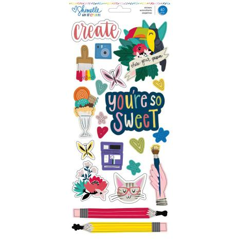 Shimelle Box Of Crayons Stickers 6X12 - Accent & Phrase