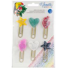Shimelle Glitter Paper Clips 6/Pkg - Box Of Crayons UTGÅENDE