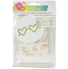 Amy Tangerine Watercolor Resist Tags 16/Pkg - Sunshine & Good Times