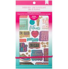 American Crafts Planner Stickers 12-Page Book 4.75X9 - Fitness