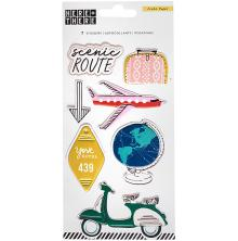 Crate Paper Embossed Puffy Stickers - Here & There
