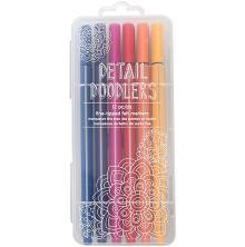 American Crafts Detail Doodlers Fine Felt Tip Markers 12/Pkg - Basics