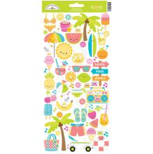 Doodlebug Cardstock Stickers - Sweet Summer Icons