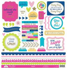 Doodlebug Hello Cardstock Stickers 12X12 - This & That