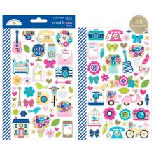 Doodlebug Mini Icons Cardstock Stickers - Hello