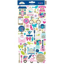 Doodlebug Cardstock Stickers - Hello Icons