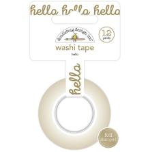 Doodlebug Washi Tape 15mmX12yd - Hello
