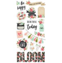 Simple Stories Chipboard Stickers 6X12 - Bloom