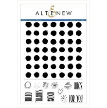 Altenew Clear Stamps 6X8 - Watercolor Dots