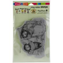 Stampendous House Mouse Cling Stamp 4.3x6.3 - Lemon Sour