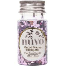 Tonic Studios Nuvo Confetti 35ml - Muted Mauve Hexagons 1061N