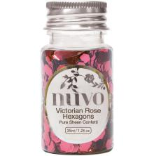 Tonic Studios Nuvo Confetti 35ml - Victorian Rose Hexagons 1063N