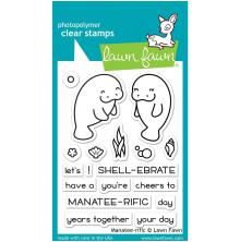 Lawn Fawn Clear Stamps 4X3 - Manatee-Rific