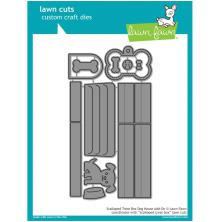 Lawn Fawn Custom Craft Die - Scalloped Treat Box Dog House