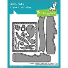 Lawn Fawn Custom Craft Die - Shadow Box Card Ocean