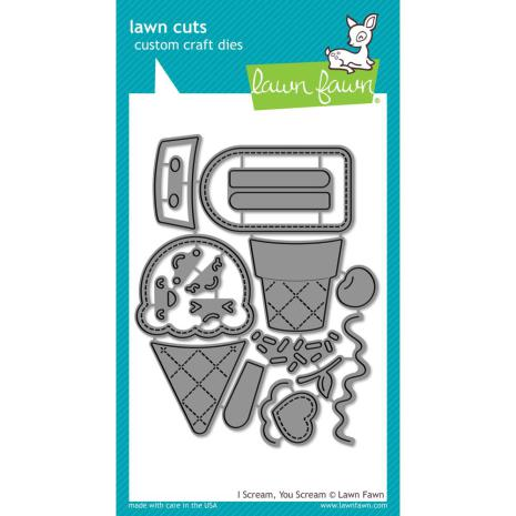 Lawn Fawn Custom Craft Die - I Scream, You Scream