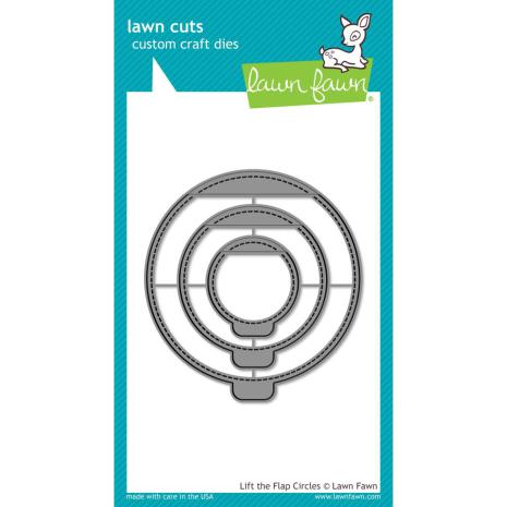 Lawn Fawn Custom Craft Die - Lift The Flap Circles
