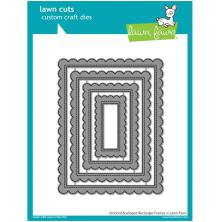 Lawn Fawn Custom Craft Die - Stitched Scalloped Rectangle Frames