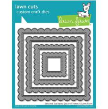 Lawn Fawn Custom Craft Die - Stitched Scalloped Square Frames