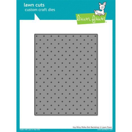 Lawn Fawn Custom Craft Die - Itsy Bitsy Polka Dot Backdrop
