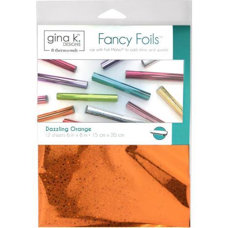 Gina K Designs Fancy Foil 6X8 12/Pkg - Dazzling Orange Holographic