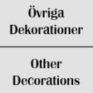 Övriga Dekorationer