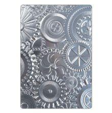 Tim Holtz Sizzix 3-D Texture Fades Embossing Folder - Mechanics