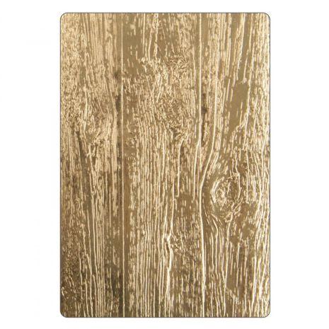 Tim Holtz Sizzix 3-D Texture Fades Embossing Folder - Lumber