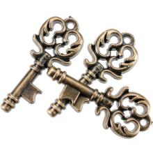 Blumenthal Steampunk Buttons 15/Pkg - Antique Gold Key